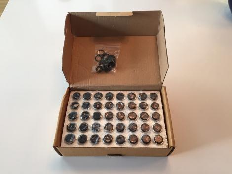 16mm Black Aluminum Momentary Switch (Box of 40)